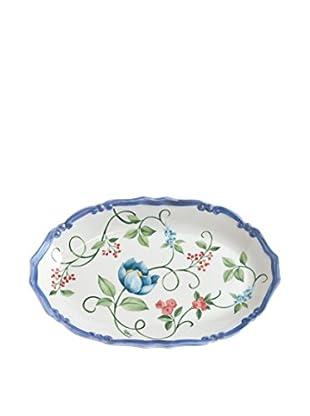 Tiffani Flachschale Paradis weiß/azurblau