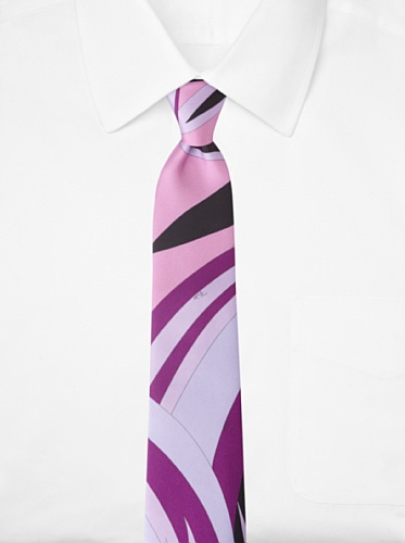 Emilio Pucci Men's Abstract Floral Tie, Purple/Lavender