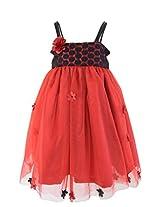 Faye Maroon & Black Tutu Dress 6-7Y