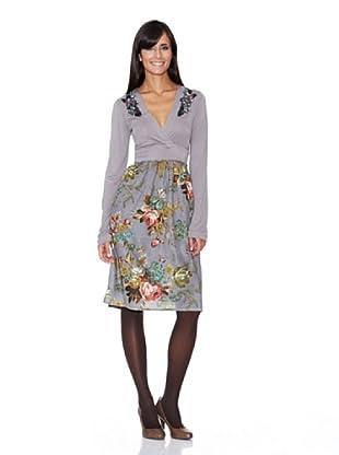 Peace & Love Vestido Estampado (gris)