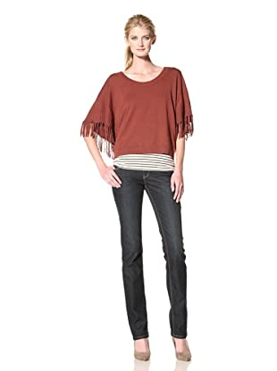 Central Park West Women's Fringed Sweater (Russet)