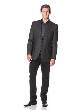 Joseph Abboud Men's Hudson Fit 2-Button Sportcoat (Black)
