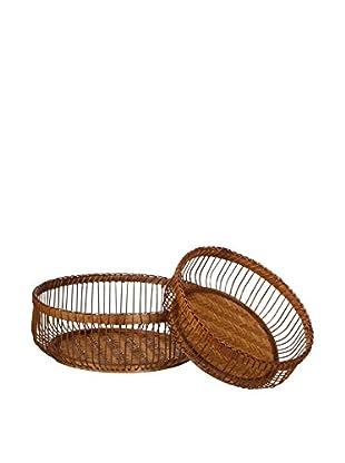 Concept Luxury Tablett 2er Set Bamboo braun