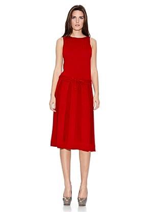 Naf Naf Vestido Tablas (Rojo)
