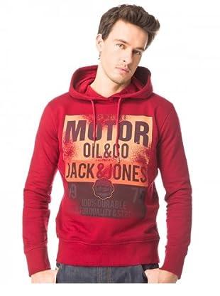 JACK & JONES Sudadera Gasoline Sweat (Rojo)