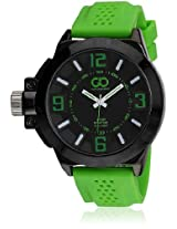Su-1556-Bkgn Green/Black Analog Watch Gio Collection