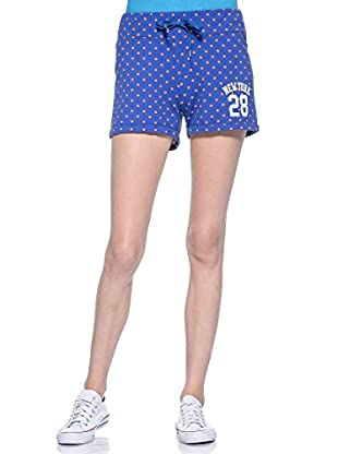 Converse Shorts Aut Lady Pois (Azul / Naranja)