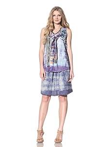 Gregory Parkinson Women's Silk Patchwork Top (Purple Jade)