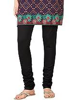 Stop Women's Knit Churidar (4595660-Black-Small)