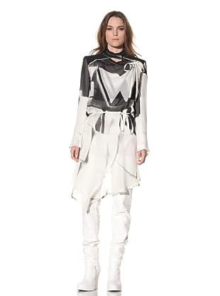 Ann Demeulemeester Women's Long Wrap Coat (Off-White)