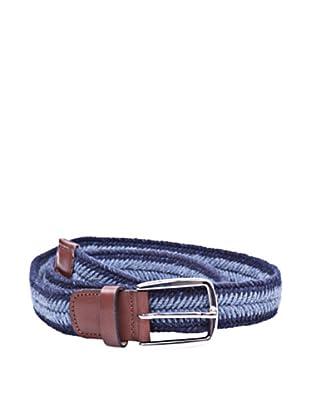 Cortefiel Cinturón Trenzado (Azul Marino)