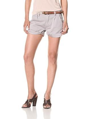 [BLANKNYC] Women's Twisted Cuff Shorts (Silver)