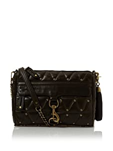 Rebecca Minkoff Women's Charmed Quilted Clutch, Olive