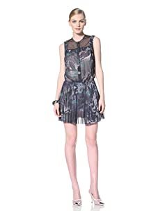 Timo Weiland Women's Pleated Shirt Dress (Lilly Pad Print)
