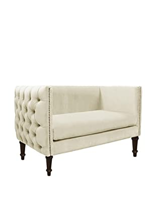Skyline Nail Button Tufted Chaise, Regal Antique White