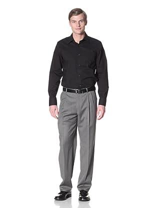 Hart Schaffner Marx Men's Pleated Trousers (Grey)