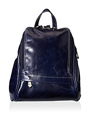 David King Women's Leather Backpack, Blue Florentine
