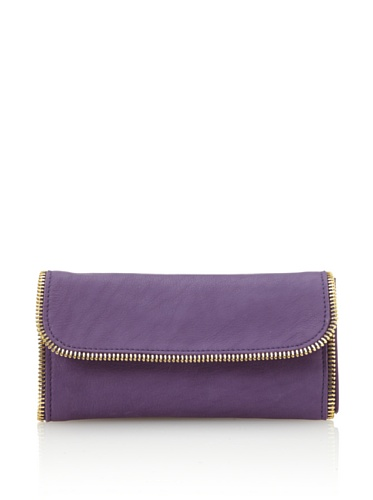 Linea Pelle Women's Dylan All-Around Zip Wallet (Amethyst)