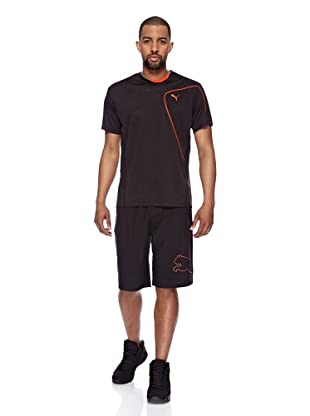 Puma Trainings T-Shirt CT Tech Burn Out (Black)