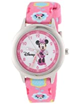 Disney Kids' W000036 Minnie Mouse Stainless Steel Time Teacher Watch