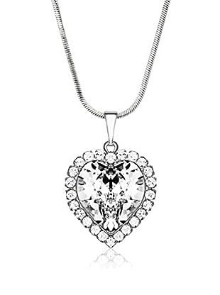 Bohemian Love Story Conjunto de cordón y colgante Crystal Big Heart
