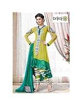 Brijraj Lawn Green Suit For Women