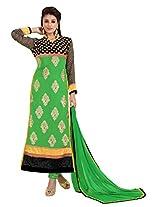 atisundar elegant Green Straight Cut with Embroidery and Digital Print- 6443_51_28001