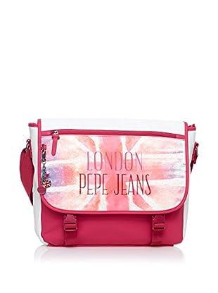 Pepe Jeans Bolsa messenger Union Rosa / Blanco