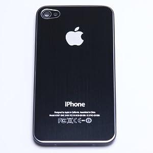 iPhone 4S メタルバックプレート(ブラック)
