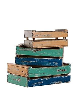Set De 3 Cajas  Multicolor