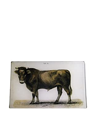 Twigs and Moss Bull in the Pasture Glass Tray
