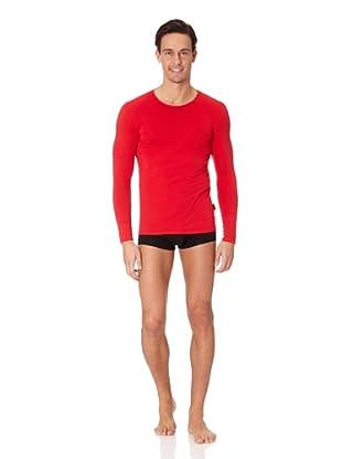 Jolidon Camiseta manga larga Hombre basic (Rojo)