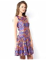 XnY Women's Dress (DR 1020258_Blue_16)