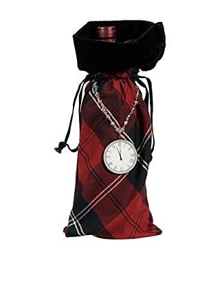 Winward Handcrafted English Manor Wine Bag, Red/Black