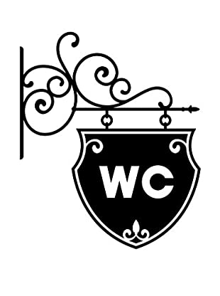 Ambiance Sticker Wandtattoo Old And Chic Wc Sign