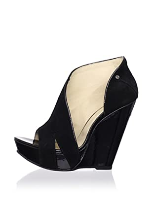 C'N'C CoSTUME NATIONAL Women's Open-Toe Wedge Boot (Black)