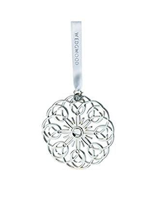 Wedgwood Pierced Star Ornament, Silver