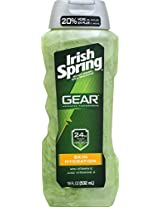 Irish Spring Gear Body Wash, Hydrating, 18 Ounce
