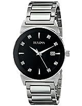 Bulova Diamond Analog Black Dial Men's Watch - 96D121