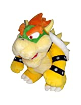 Nintendo Official Super Mario Bowser Plush, 10