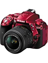 NikonD5300 DSLR Camera with 18-55mm Lens (Red)