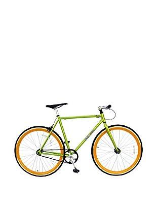 Galaxie Fixed Gear Bike, Green/Orange, 54cm