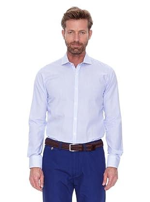 Cortefiel Camisa Raya Fina Bicolor (Azul)