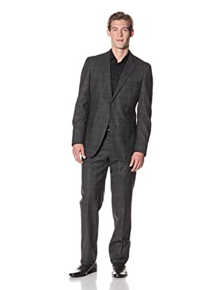 Joseph Abboud Men's Hudson Fit 2-Button Suit (Black)
