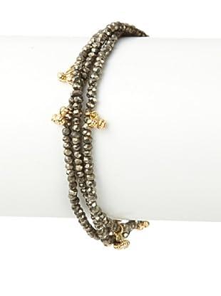 Shashi Pyrite Eliza Wrap Bracelet