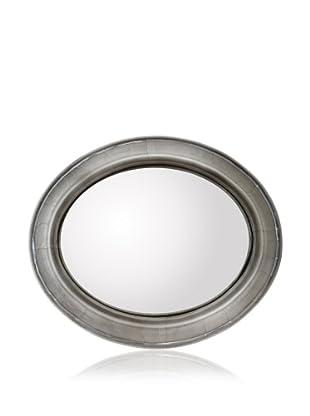 Zalva Metal Wrap Oval Convex Mirror