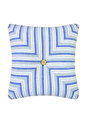 Nantucket Dream Diagonal Striped Pillow, Blue Multi