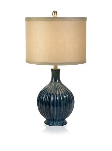 Maske Ceramic Lamp, Blue