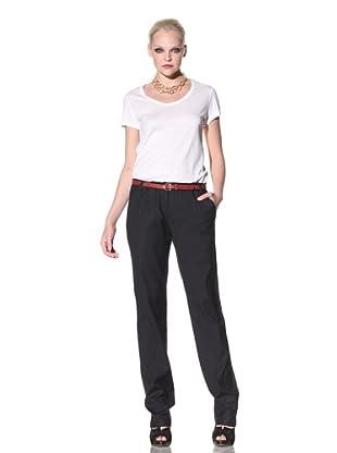 My Pants Women's Slim Tuxedo Stripe Pant (Blue)