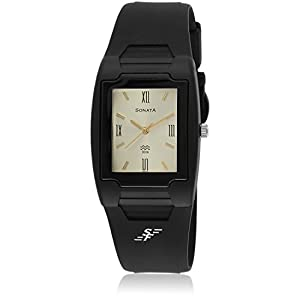 Sonata Analog White Dial Men's Watch - NF7920PP12J